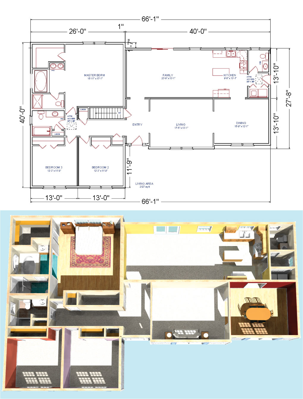 Eplans Ranch House Plan – Perfect Rectangle – 1416 Square Feet and