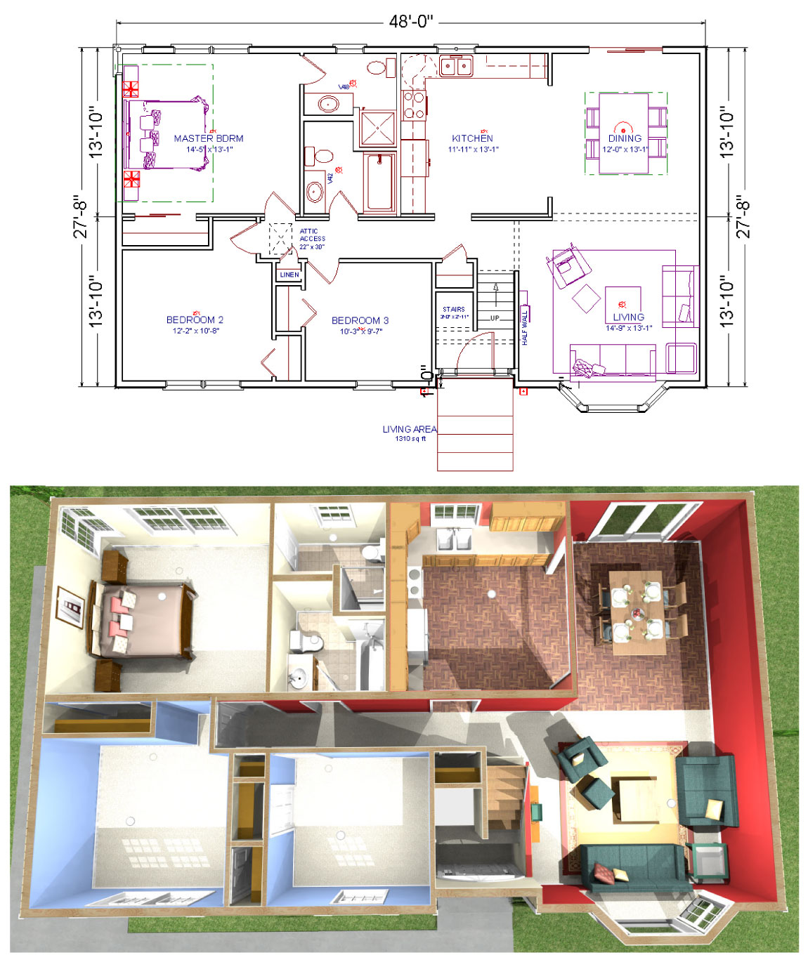 Simple Split Level Home Plans