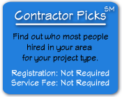 Contractor Picks - who to hire your local area