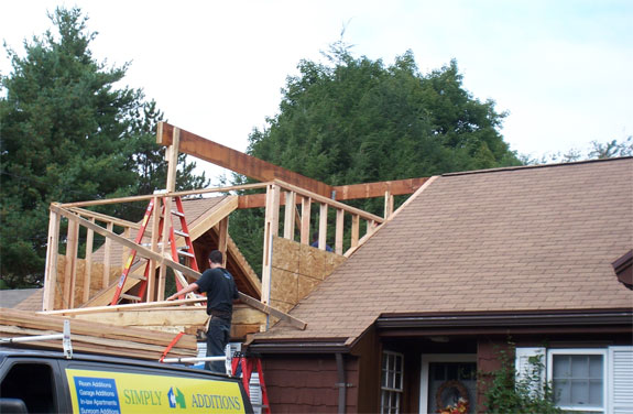framing the front dormer - Additions On Ranch Style Homes