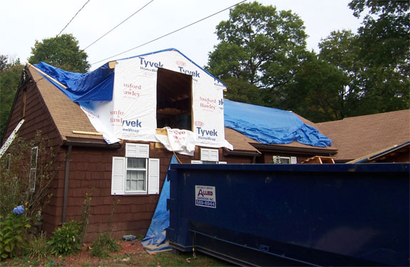 Wrapping the front dormer during construction
