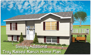 Home addition plans raised ranch raised ranch remodeling for Raised ranch garage addition