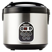 Aroma ARC-150SB 20 cup rice cooker and food steamer is the best rice cooker on the market.