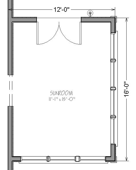 12 by 16 Sunroom Addition Plans - Package Links - Simply Additions