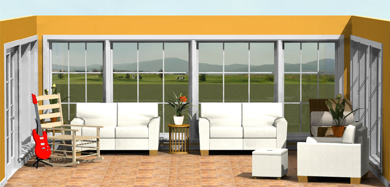 Premier Four Seasons Sunroom Addition 20 x 18