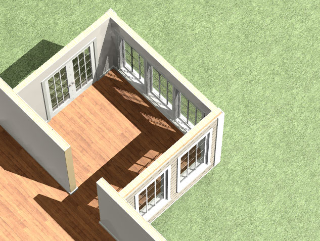 120 Sq.ft Sunroom Addition Package